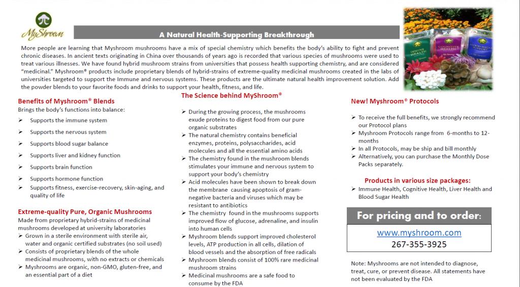 MyShroom Brochure